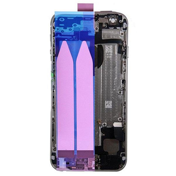 قاب و بدنه كامل با فلت هاي داخلی گوشی آیفون IPHONE 6 اورجینال مشکی