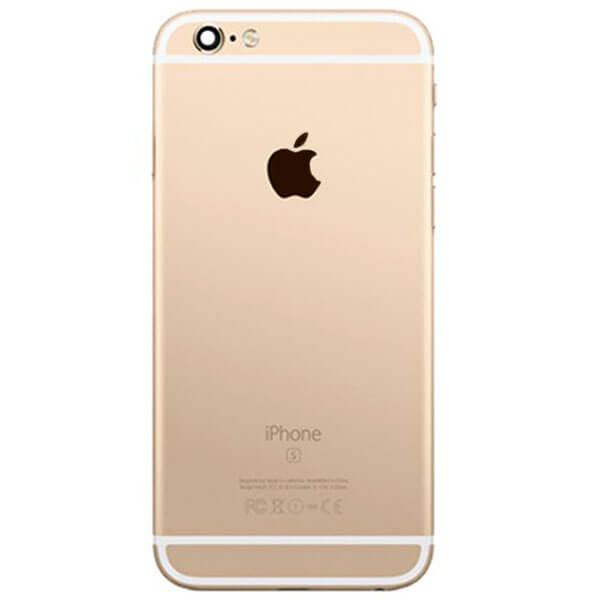 قاب و بدنه کامل با فلت های داخلی گوشی آیفون IPHONE 6S اورجینال طلایی