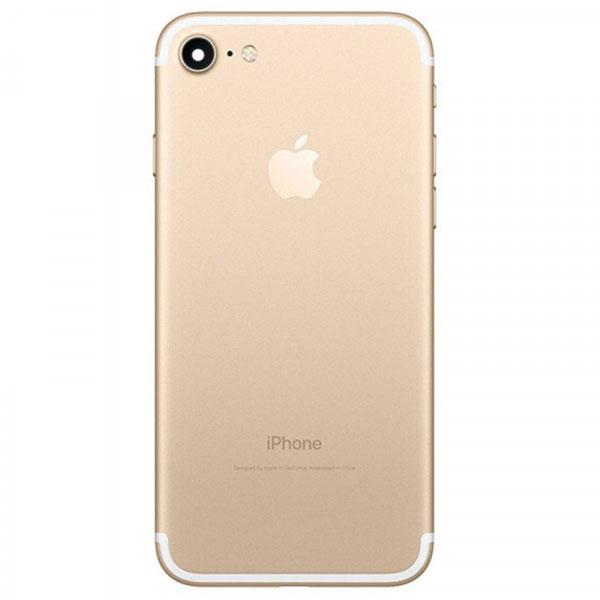 قاب و بدنه كامل با فلت هاي داخلی گوشی آیفون IPHONE 7 اورجینال طلایی