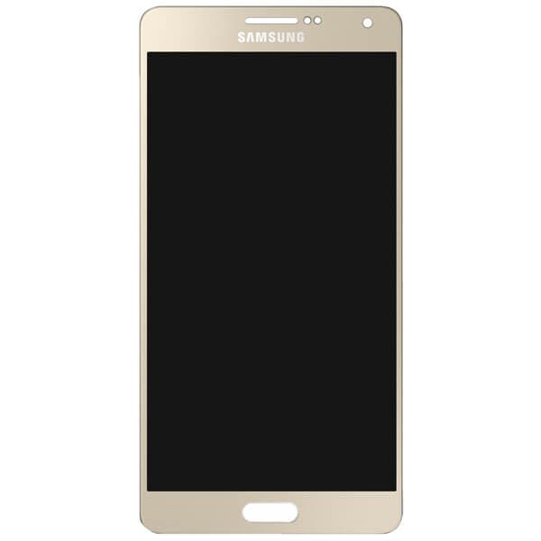 تاچ ال سی دی گوشی موبایل سامسونگ SAMSUNG GALAXY A500 / A5 2015 اورجینال گلس تعویض طلایی