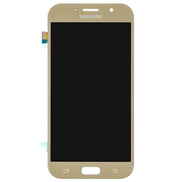 تاچ ال سی دی گوشی موبایل سامسونگ SAMSUNG GALAXY A720 / A7 2017 اورجینال گلس تعویض طلایی