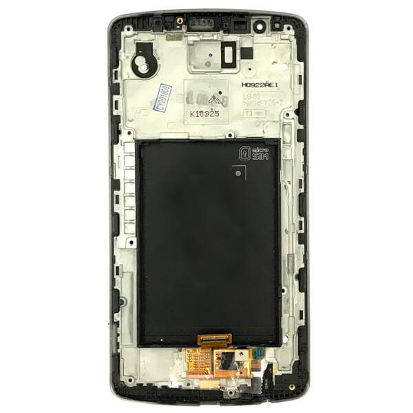 تاچ ال سی دی گوشی موبایل ال جی LG D855 / G3 اورجینال با فریم مشکی