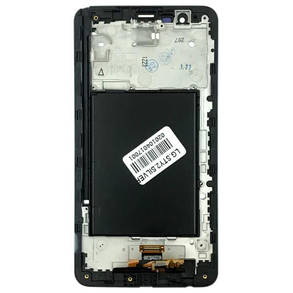تاچ ال سی دی گوشی موبایل ال جی LG K520 / STYLUS 2 نقره ای طلایی سفید
