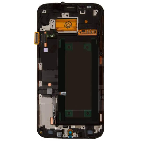 تاچ ال سی دی گوشی موبایل سامسونگ SAMSUNG G925 / S6 EDGE اورجینال با فریم طلایی