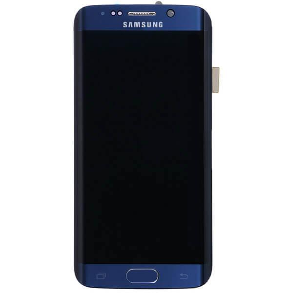 تاچ ال سی دی گوشی موبایل سامسونگ SAMSUNG GALAXY G925 / S6 EDGE اورجینال گلس تعویض با فریم سرمه ای