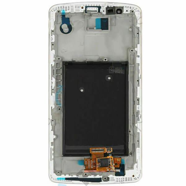 تاچ ال سی دی گوشی موبایل ال جی LG D855 / G3 اورجینال با فریم سفید