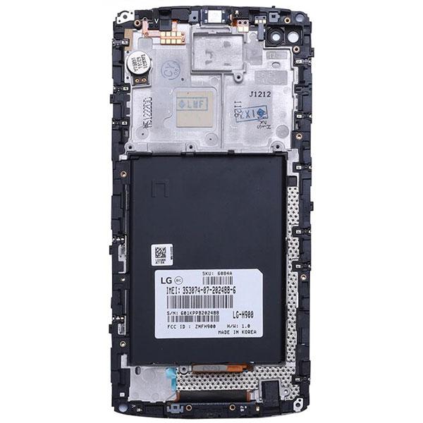 تاچ ال سی دی گوشی موبایل ال جی LG H960 / V10 اورجینال با فریم مشکی