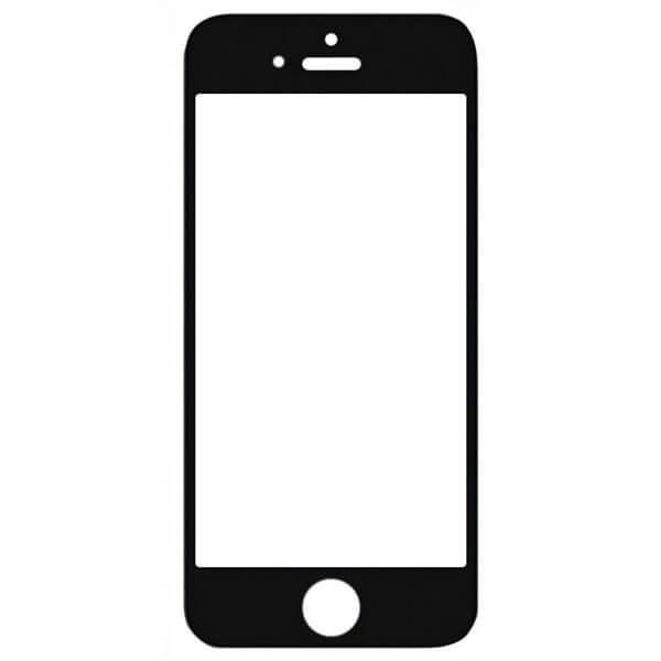 گلس تعمیراتی آیفون IPHONE 5S با OCA با فریم اورجینال مشکی
