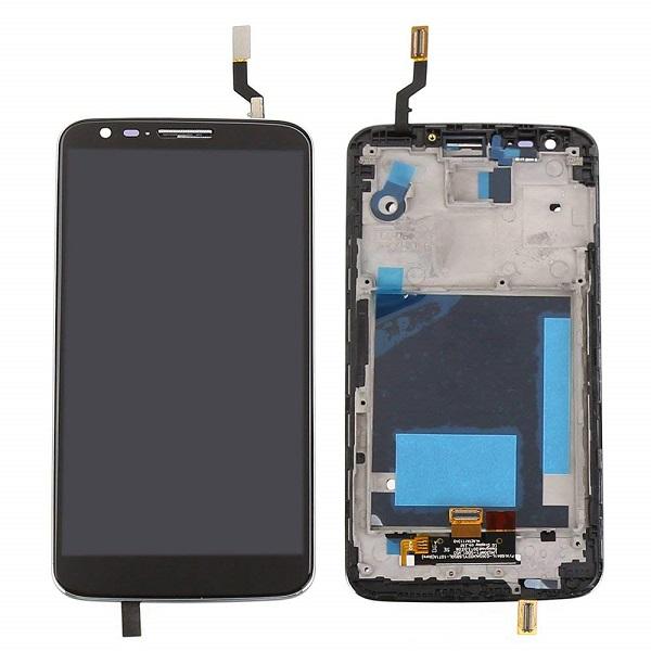 تاچ ال سی دی گوشی موبایل ال جی LG D802 / G2 اورجینال با فریم مشکی