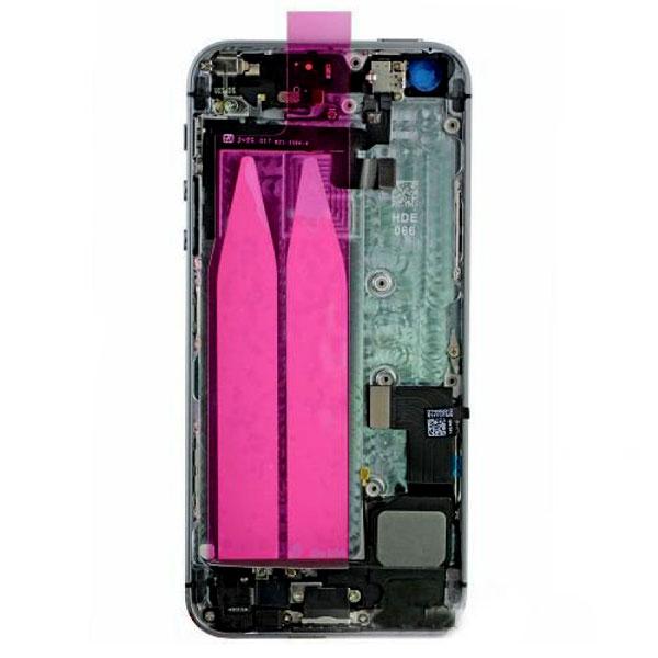 قاب و بدنه كامل با فلت هاي داخلی گوشی آیفون IPHONE 5S اورجینال مشکی