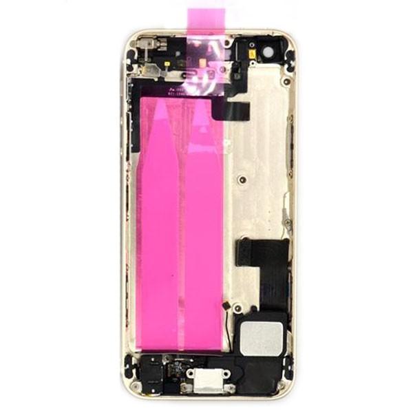 قاب و بدنه كامل با فلت هاي داخلی گوشی آیفون IPHONE 5S اورجینال طلایی