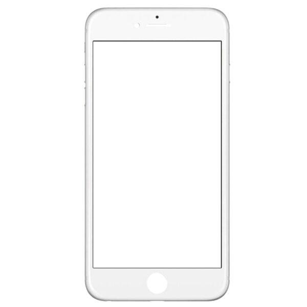 گلس تعميراتي آيفون IPHONE 6 PLUS با OCA با فريم اورجينال سفيد