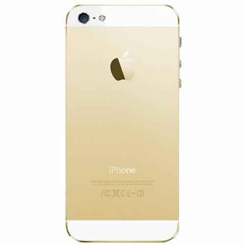 قاب و بدنه کامل با فلت های داخلی گوشی آیفون IPHONE 5 اورجینال طلایی