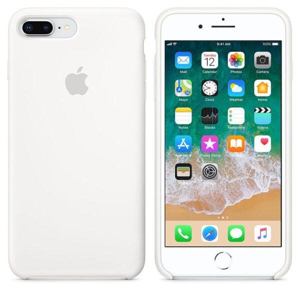Silicone case iphone white e