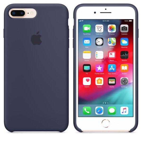 Silicone iphoneplus plus Navy blue e