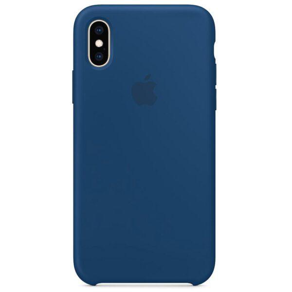 Silicone iphonex blue e
