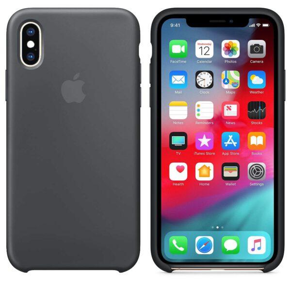 Silicone iphonex gray  e