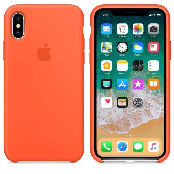 Silicone iphonex orange   e