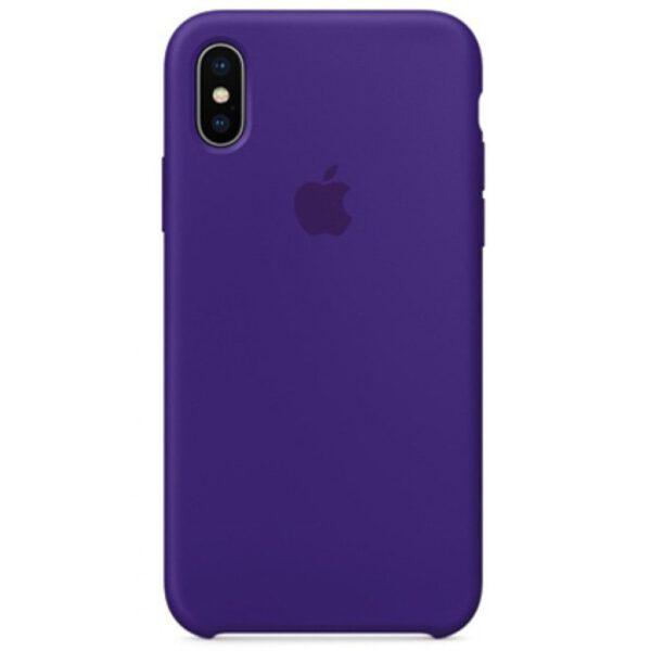 Silicone iphonex purple e