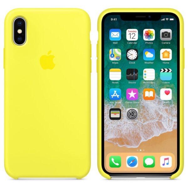 Silicone iphonex yellow  e