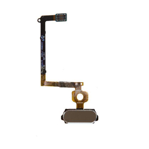 فلت دكمه هوم سامسونگ SAMSUNG G920 / S6 طلایی