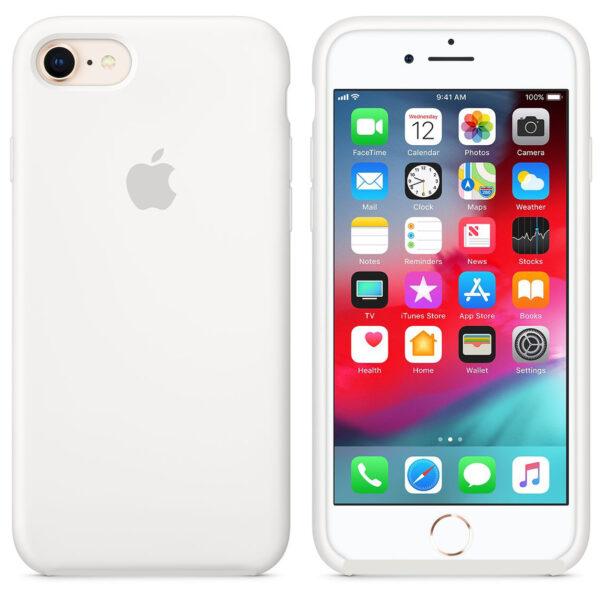 silicone gard iphone white   e