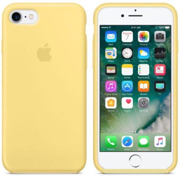silicone gard iphone yellow  e