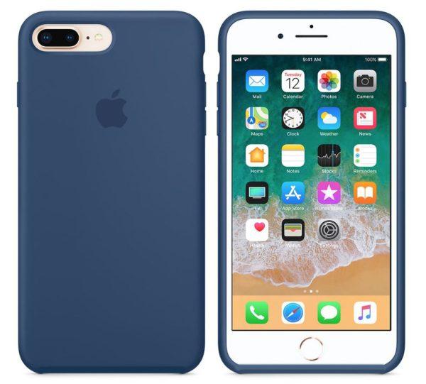 silicone gard iphone blue