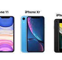 مقایسه گوشی های آیفون اس ای (2020)، آیفون 11، آیفون ایکس آر