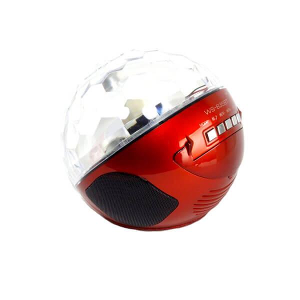 اسپیکر بلوتوثی قابل حمل COLOR BALL SPEAKER مدل WS-635BT اورجینال قرمز