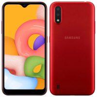 گوشی موبایل سامسونگ SAMSUNG A01 /A015 قرمز دو سیم کارت ظرفیت ۱۶ گیگ