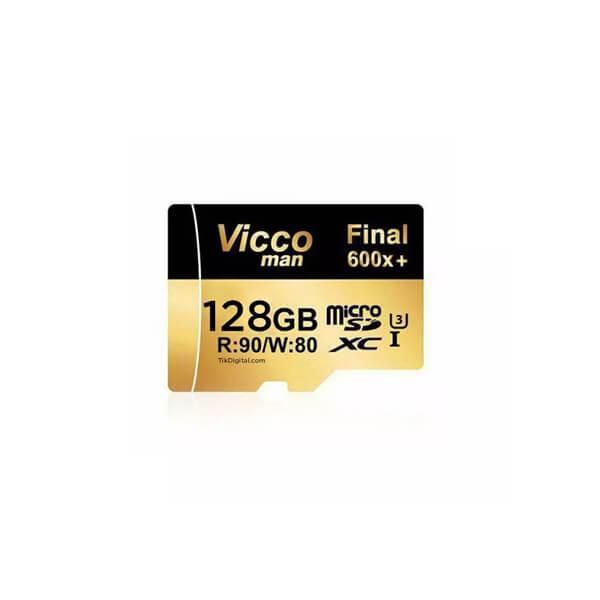 کارت حافظه ویکومن Viccoman MicroSD کلاس ۱۰ با سرعت ۹۰ MB/S ظرفیت ۱۲۸ گیگابایت
