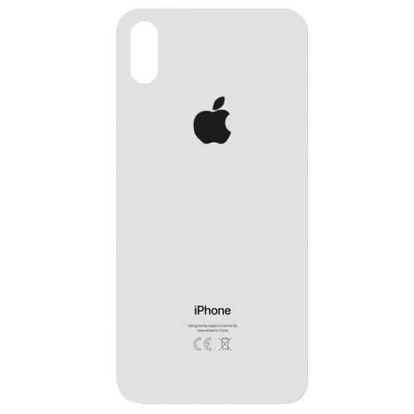درب پشت گوشی آیفون IPHONE XS اورجینال سفید با حفره بزرگ