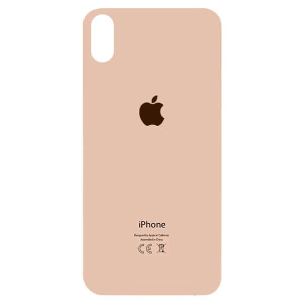 درب پشت گوشی آیفون IPHONE XS MAX اورجینال طلایی با حفره بزرگ