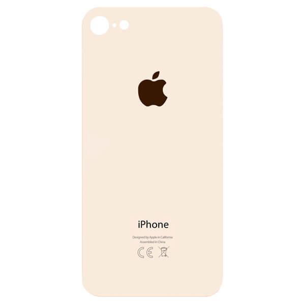 درب پشت گوشی آیفون IPHONE 8 اورجینال طلایی با حفره بزرگ