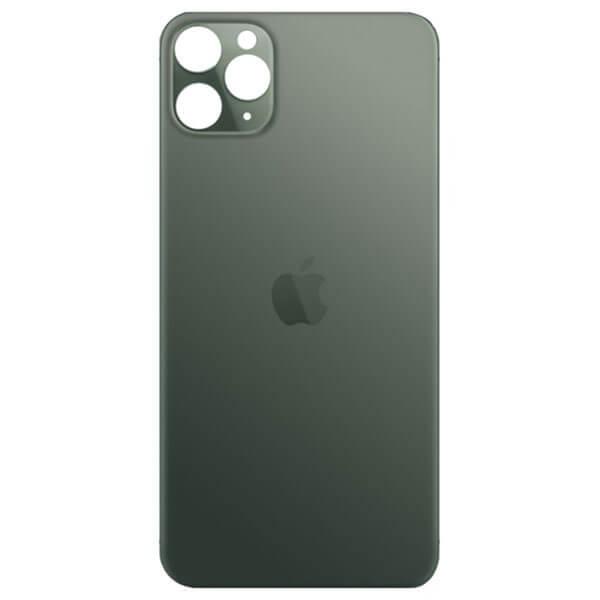 درب پشت گوشی آیفون IPHONE 11 PRO MAX اورجینال سبز با حفره بزرگ
