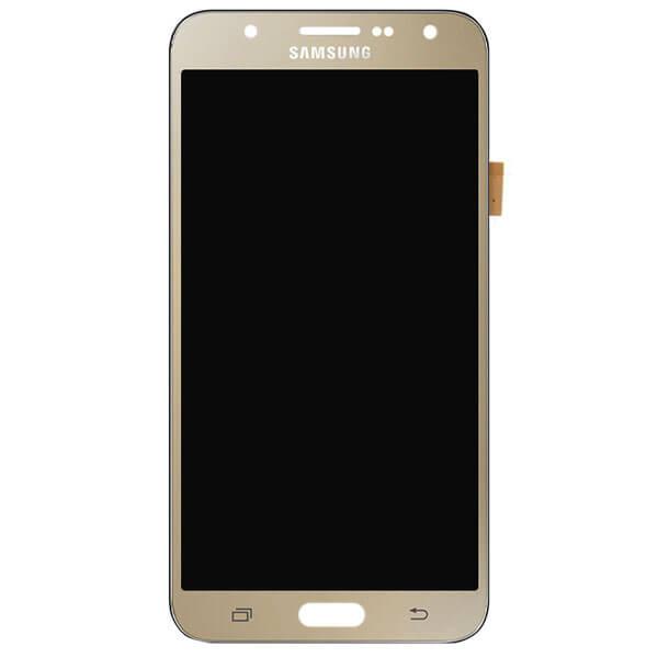 تاچ ال سی دی گوشی موبایل سامسونگ SAMSUNG J7 2015 / J700 اورجینال گلس تعویض طلایی