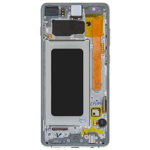 تاچ ال سی دی گوشی موبایل سامسونگ SAMSUNG S10 PLUS / G975 اورجینال با فریم سفید