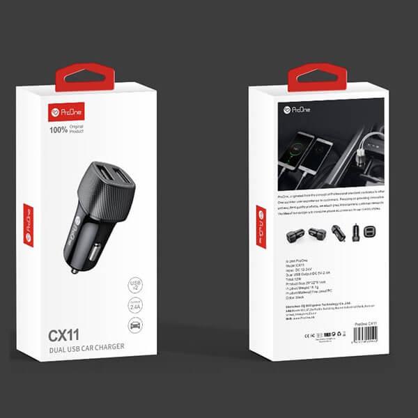شارژر فندکی خودرو پرووان PRO ONE مدل CX11