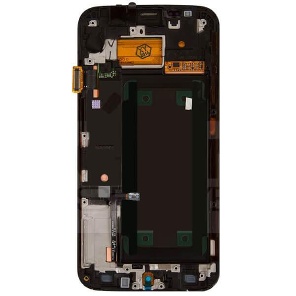 تاچ ال سی دی گوشی موبایل سامسونگ SAMSUNG S6 / G920 اورجینال سفید با فریم
