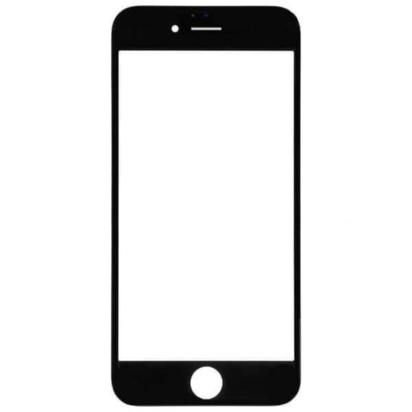 گلس تعمیراتی آیفون IPHONE 6 PLUS با فریم بدون OCA اورجینال مشکی