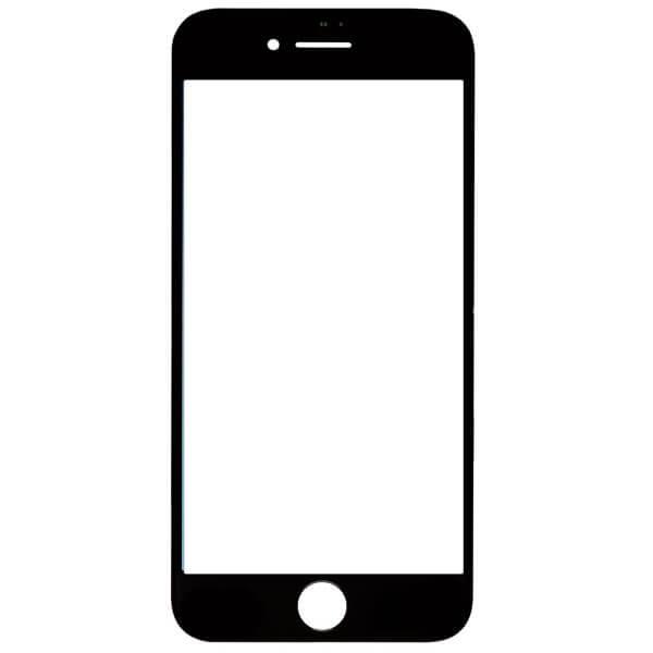 گلس تعمیراتی آیفون IPHONE 8 با فریم بدون OCA اورجینال مشکی