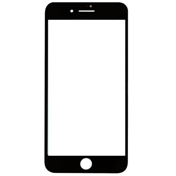 گلس تعمیراتی آیفون IPHONE 8 PLUS با فریم بدون OCA اورجینال مشکی
