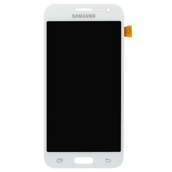تاچ ال سی دی گوشی موبایل سامسونگ SAMSUNG GALAXY J200 / J2 2015 سفید مشکی طلایی