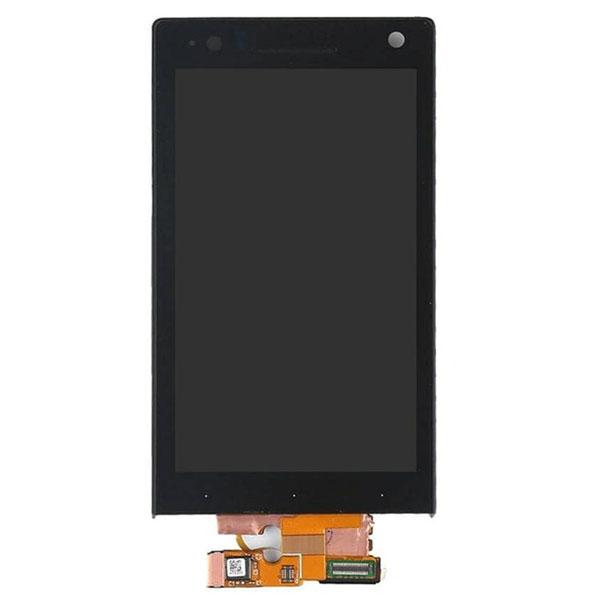 تاچ ال سی دی گوشی موبایل سونی SONY XPERIA S / L626 I با فریم اورجینال مشكی