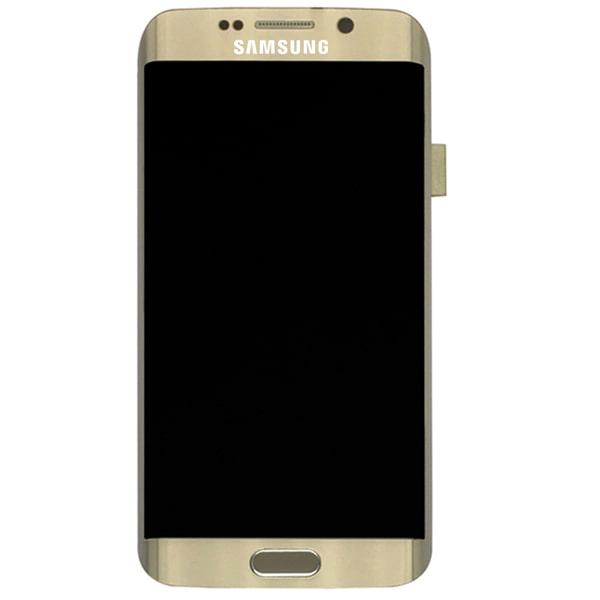 تاچ ال سی دی گوشی موبایل سامسونگ SAMSUNG S6 EDGE / G925 سبز طلایی سفید سرمه ای