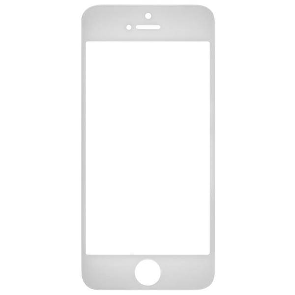 گلس تعمیراتی آیفون IPHONE 5S با فریم اورجینال مشکی سفید